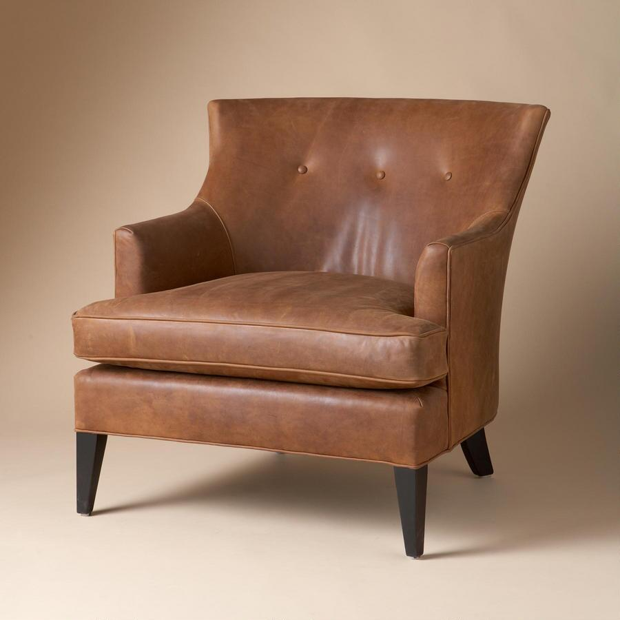 WYATT LEATHER CLUB CHAIR