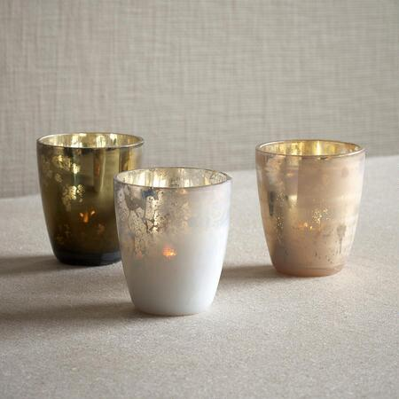 TEALIGHT VOTIVES, SET OF 3