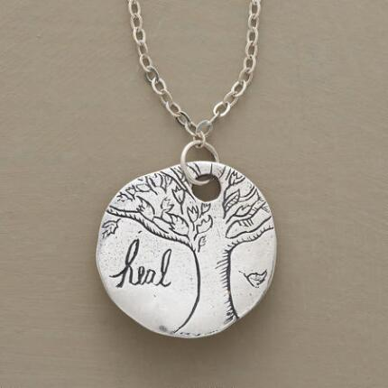 Like a wearable mantra, this Jes MaHarry tree pendant necklace is beautiful in design and message.