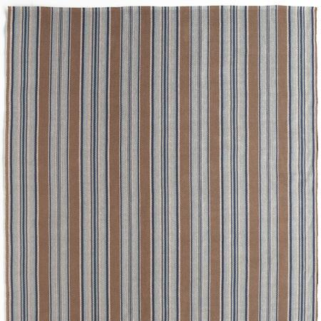 BLUE HERON STRIPES WOVEN RUG, LARGE