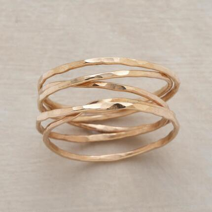 It's so perfect, you just might wear your hand-hammered quintet ring every single day.