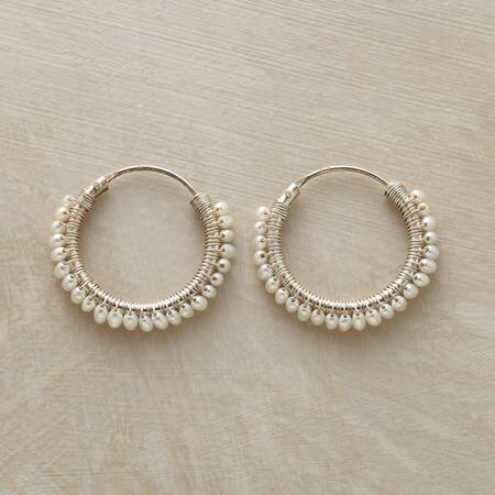 CIRCLE OF PEARLS EARRINGS