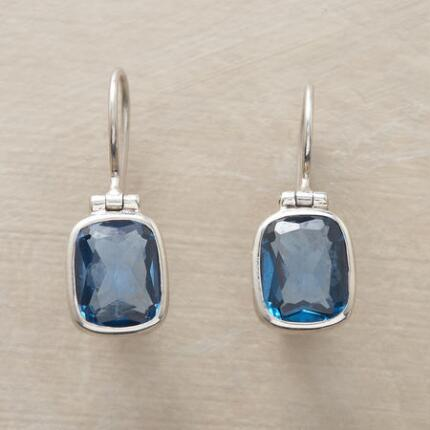 Coolly lovely, these faceted blue glass and silver earrings are the perfect everyday pair.