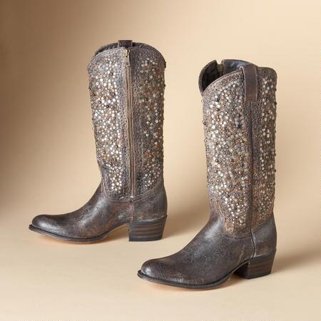 VINTAGE STUDDED TALL BOOTS