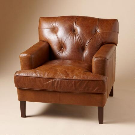 PALADINO TUFTED LEATHER CHAIR