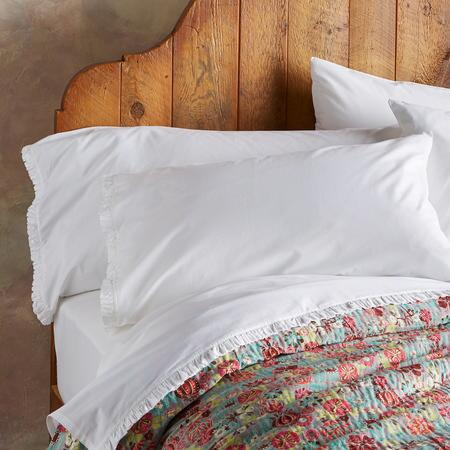 COUNTRY RUFFLE PILLOWCASES, SET OF 2