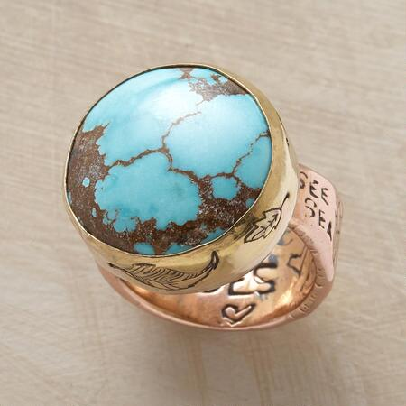 Make a bold statement with this Jes MaHarry turquoise testament ring.