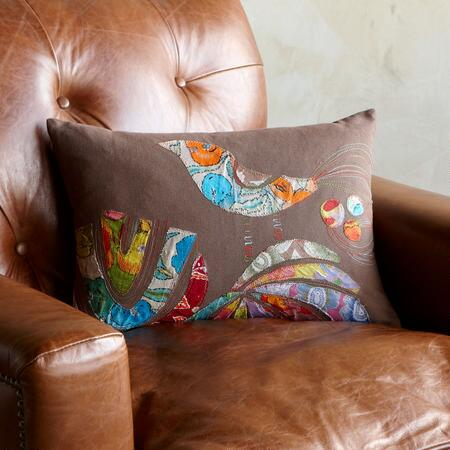 GARDEN BIRD PILLOW