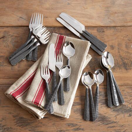 VILLAGE FORGE FLATWARE, 20-PIECE SET