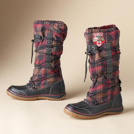 HIGHLANDER PLAID BOOTS