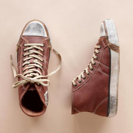 BEAT-BACK LEATHER SNEAKERS