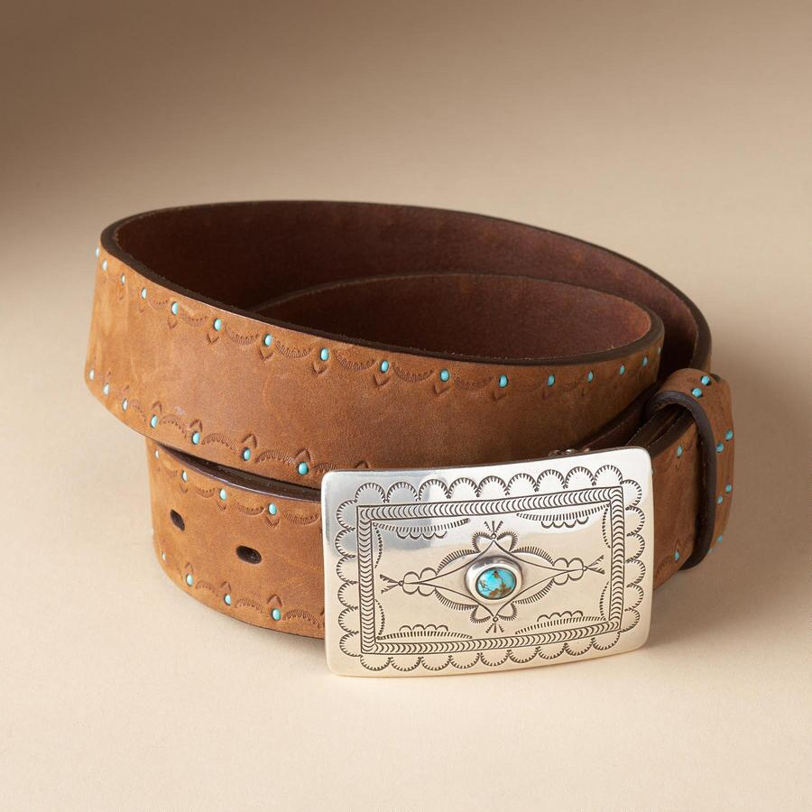 BLUE RIVER BEADED BELT