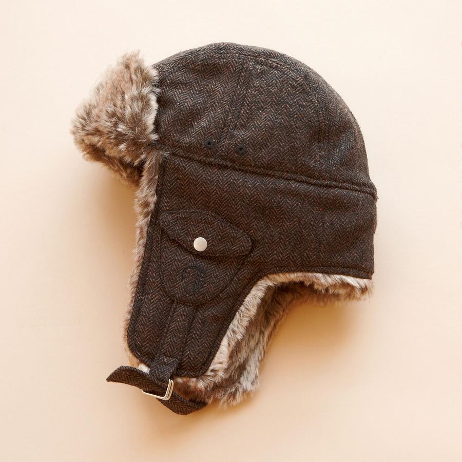 HERRINGBONE TRAPPER CAP