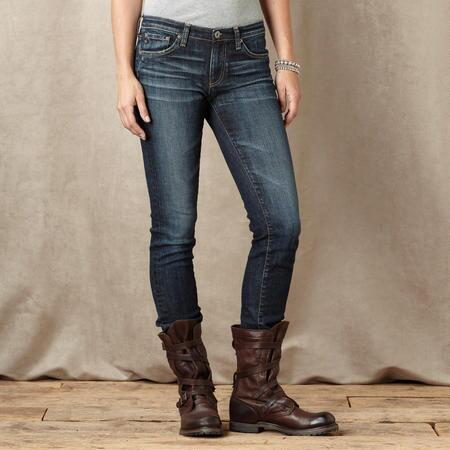 A G PREMIERE SKINNY KNOLL JEANS