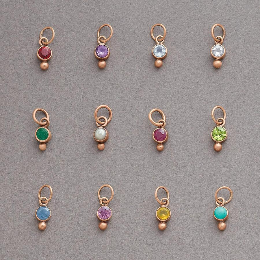 ROSE GOLD BIRTHSTONE BEZEL CHARMS