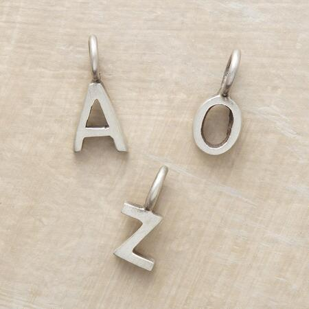 STERLING SILVER ALPHABET CHARMS