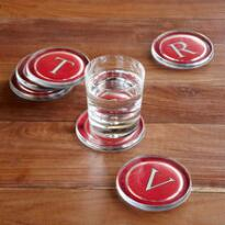 TYPEWRITER FONT COASTERS - RED