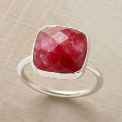 With a sumptuous color and cut, this red jubilee ring will drop jaws when you wear it.