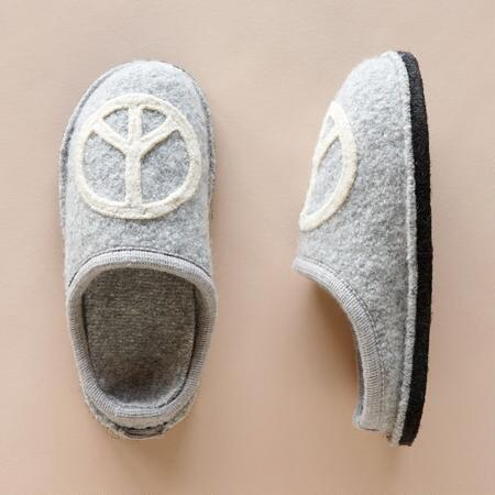 PEACE AFOOT SLIPPERS