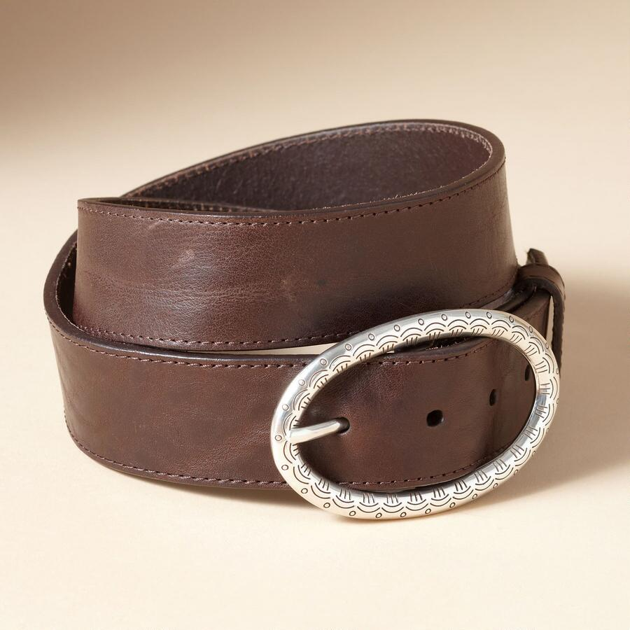 BELT WITH ELLIPTICAL BUCKLE