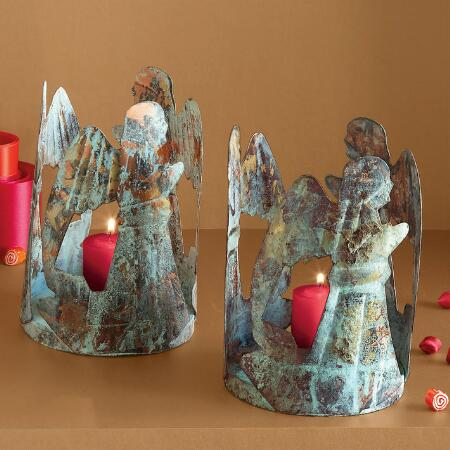 ANGELIC VOTIVE HOLDER SET