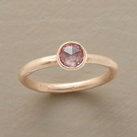 PINK SAPPHIRE ROSE GARDEN RING
