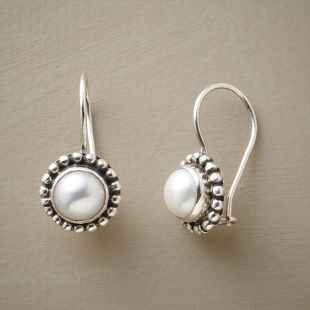 These beaded pearl earrings are the consummate classic, adding loveliness to any ensemble.