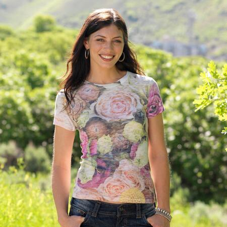 HEIRLOOM PINK ROSE BURNOUT TEE