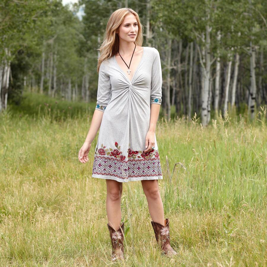 ROSE TRELLIS DRESS