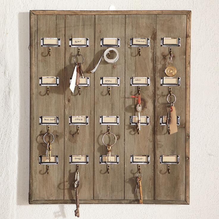 Home Decorators Key Wall Art ~ Vintage hotel key rack wall decor
