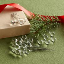 RAINDROP ORNAMENTS, SET OF 24