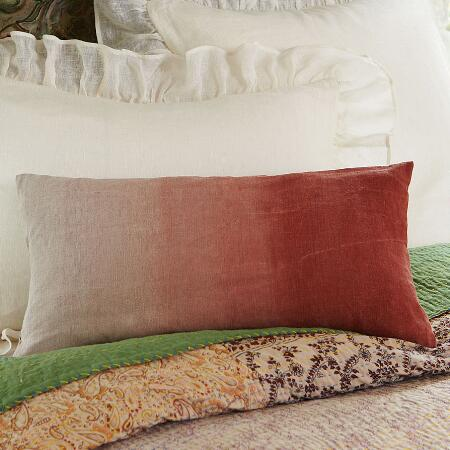HANDPAINTED LINEN PILLOW