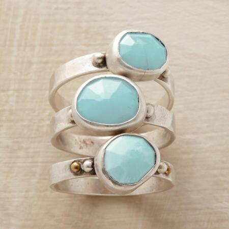 TURQUOISE LUCKY RING TRIO