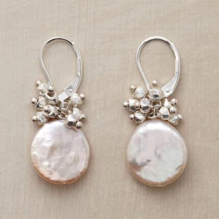 Luminous and fine, these silver and coin pearl earrings are simply sublime.