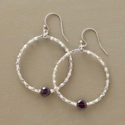 HEARTBEAT GARNET HOOPS