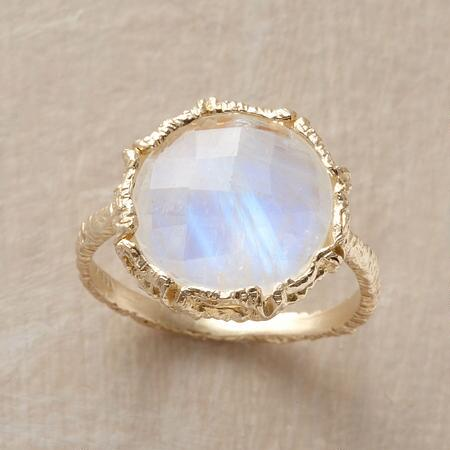 This Danielle Welmond moonstone ring will enchant you with its ethereal glow.