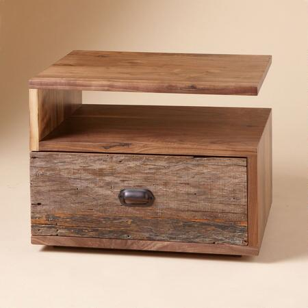 AGED WOOD, NEW DREAMS NIGHTSTAND