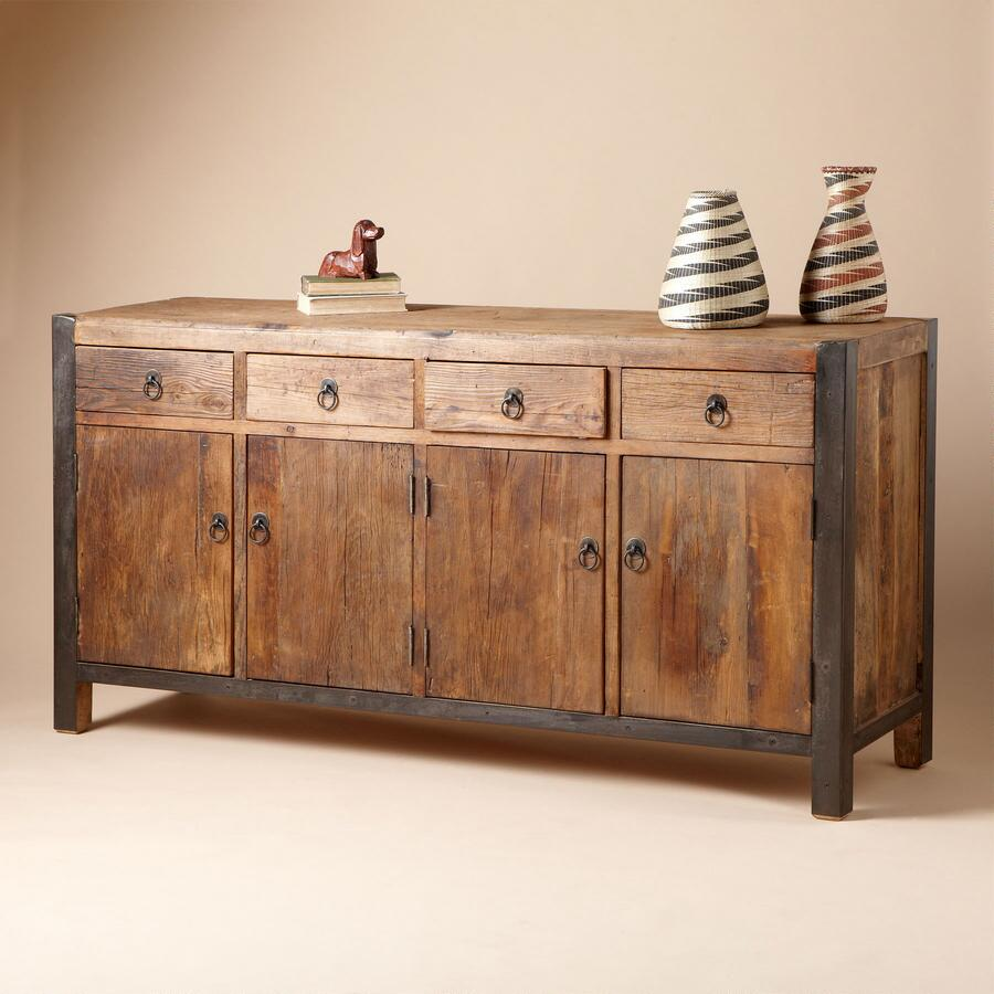 BURNSIDE WOODEN SIDEBOARD