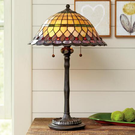 TIFFANY STYLE PARASOL TABLE LAMP