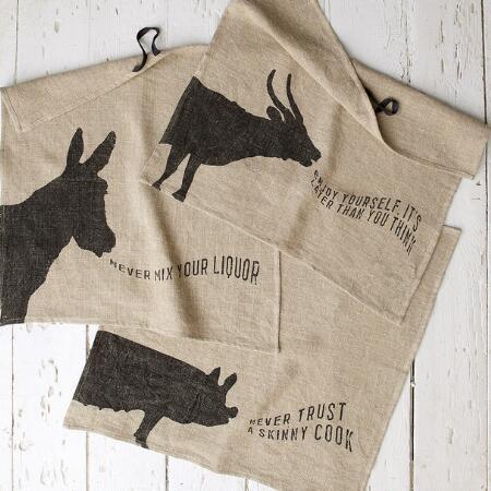 ANIMAL WIT & WISDOM DISH TOWELS