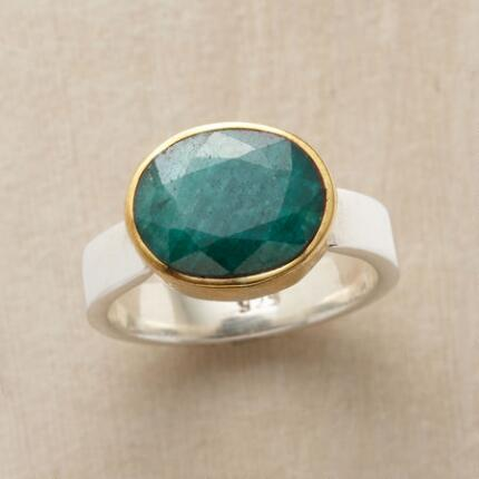 A stunning green onyx tidepool ring that catches the eye and holds it.