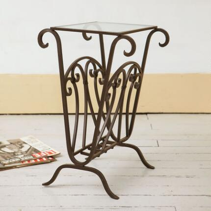 SCROLLWORK END TABLE