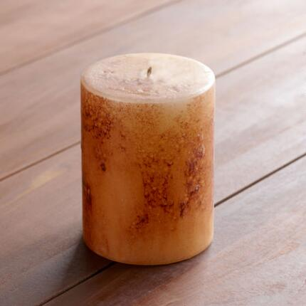 3X3 CHAMPAGNE ANTIGUA PILLAR CANDLE