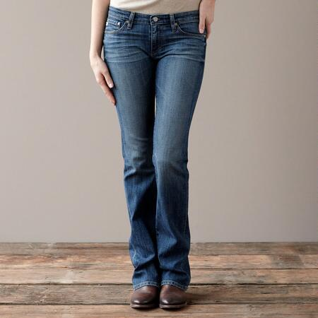 A G ANGEL BOOTCUT IN 14 YEAR WASH JEANS