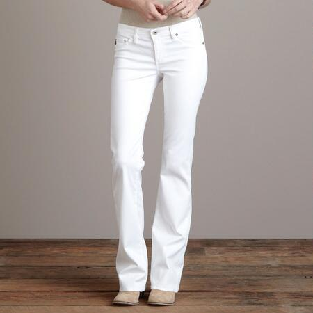 A G ANGEL WHITE BOOTCUT JEANS
