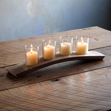 BARREL STAVE VOTIVE HOLDER