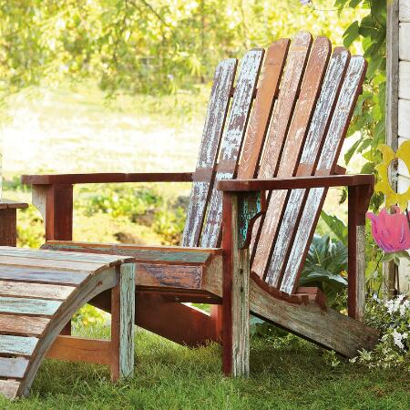 DISTRESSED ADIRONDACK CHAIR
