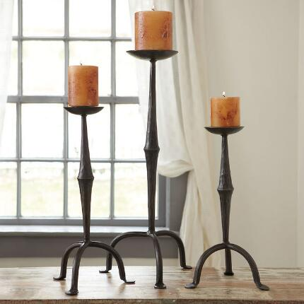 HACIENDA CANDLEHOLDERS, SET OF 3