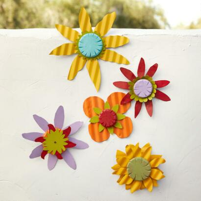 WALL FLOWERS, SET OF 5