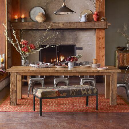 Our unique reclaimed wood table exudes an authentic sense of character.